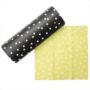 Eyeglass Sunglass Random Dot Cleaner Closs Eyeglass Case
