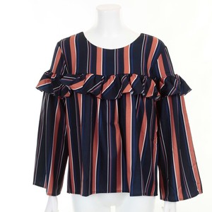 Multi Stripe Frill Blouse