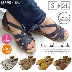 Curve Closs Belt Design Casual Sandal