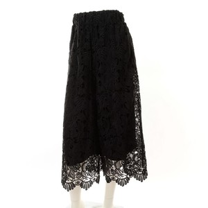 Wrap Lace wide pants