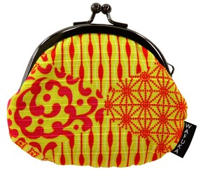 "Japan ""Furoshiki"" Japanese Traditional Wrapping Cloth Fancy Goods Coin Purse Arabesque"