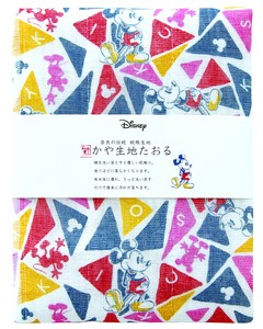 Japan Disney Fabric Towel Triangle Mick