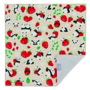 Japan Imabari Handkerchief Strawberry Panda Bear