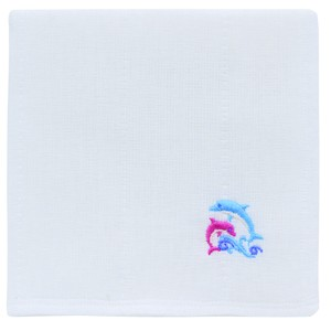 Japan Kitchen Towels Embroidery Dolphin