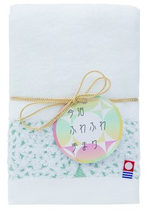 Japan Imabari Fluffy Temari Face Towel Green