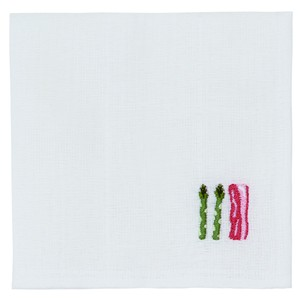 Japan Kitchen Towels Embroidery Asparagus Bacon