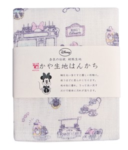 Japan Disney Fabric Handkerchief Minnie Date