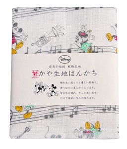 Japan Disney Fabric Handkerchief Musical Note