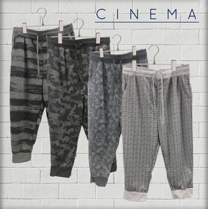 S/S Fleece Repeating Pattern Three-Quarter Length Pants