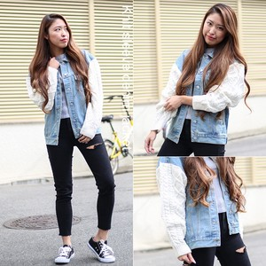 2018 A/W Ladies Knitted Denim Jacket