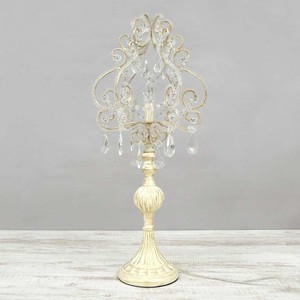 Table-top Light Table Chandelier Lamp Clear White