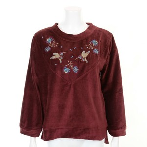 Velour Embroidery Pullover