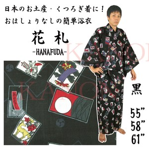 "Color Yukata Japanese Playng Card ""HANAFUDA"" Men's Yukata Weaving"