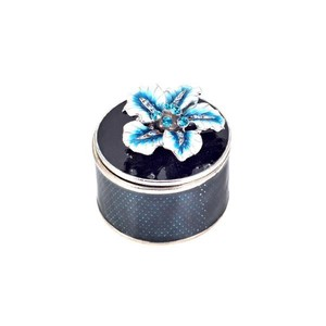 【SALE】【Creative Co-Op Home】ターコイズ ジュエリーボックス,Turquoise Enamel Flower Trinket Box