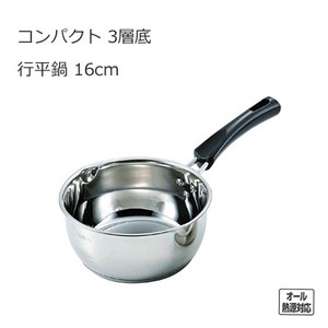 IH Supported PEARL KINZOKU Stainless Steel Compact