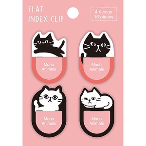 Index Clip Animal Cat 4 Pcs 6 Pcs Japan