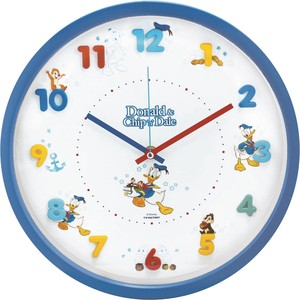 Disney Icon Wall Clock Donald Chip 'n Dale