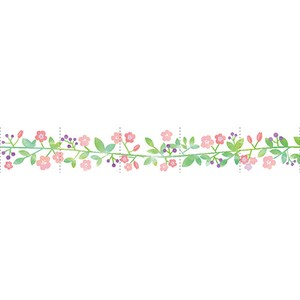 Cutting Washi Tape Flower Leaf Japan