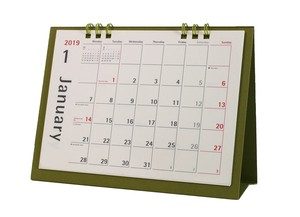 Calendar Table-top Olive