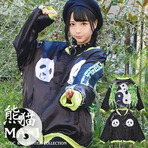 Panda Bear Sukajan Jacket Kilting Thick