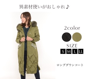 Down Down Coat Ladies Outerwear Food Long