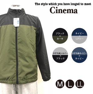 Men's S/S Mesh Stand Switching Blouson