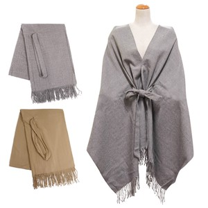 Big A/W Stole Attached Stole Cardigan