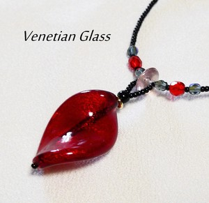 Italy Glass Handmade Necklace Italia Venetian Glass