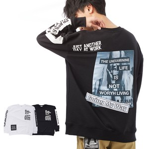 S/S Men's Bag Digital Photo Pasting Decoration Big Sweatshirt