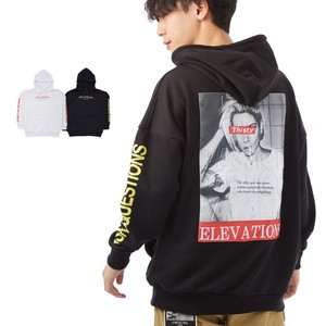 S/S Men's Bag Emboss Processing Pasting Print Print Big Hoody