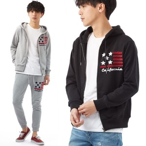 S/S Men's Stars And Stripes Embroidery Sweat Hoody