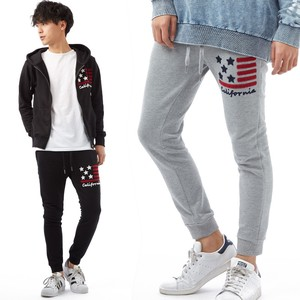 S/S Men's Stars And Stripes Embroidery Sweat Pants