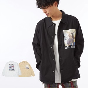 S/S Men's Lady Photo Typewriter Jacket