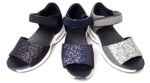Glitter Objects and Ornaments Ornament Black Sport Sandal Cushion Attached Sport Sole