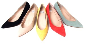 Leather Cut Pumps Arch Cushion Attached Insole