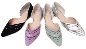 Leather Cut Work Pumps Ethnic Cut Work Design Studs Line