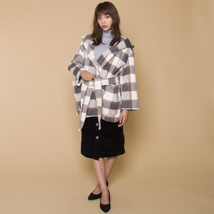 Checkered Robe Coat