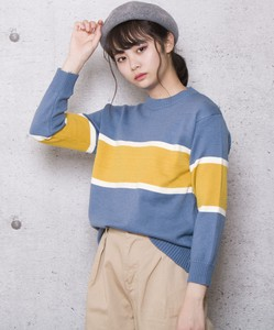 Line Color Scheme Knitted Top