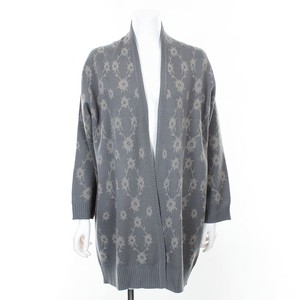 Flower Jacquard Knitted Cardigan