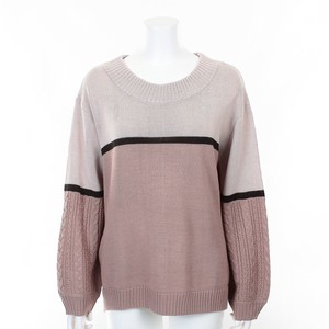 Cable Color Scheme Knitted Pullover