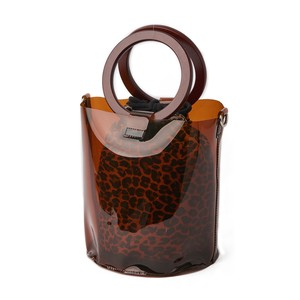 Bucket Leopard Pouch Clear Tote Bag