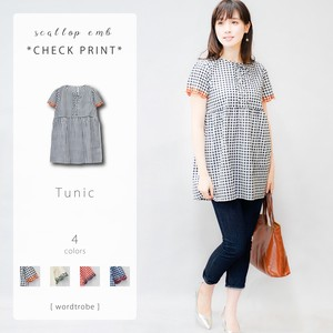 Checkered Print Tunic