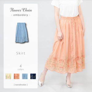Flower Chain Embroidery Skirt