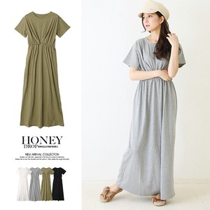 S/S Tuck Waist Short Sleeve One-piece Dress Basic [2019NewItem]