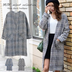Checkered Long Cardigan Long Checkered Petit Pla