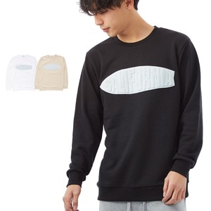 S/S Men's Denim Affix Emboss Processing Sweatshirt