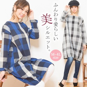 Checkered Tunic One-piece Dress [2019NewItem]