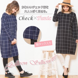 Elegance Checkered Band Tunic [2019NewItem]