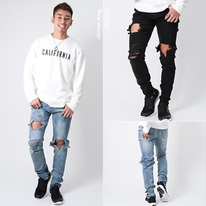 S/S Hard Damage Skinny Denim Pants