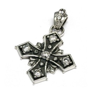 Silver 925 Closs Cross Double Closs Silver Pendant